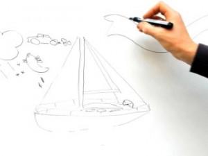 schets van een boot
